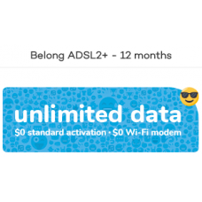 Belong Unlimited NBN and ADSL Plan 60$/mth