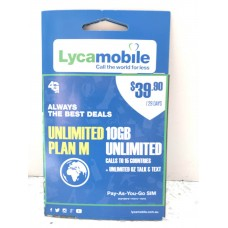 Lycamobile $39.90 SIM Starter Kit