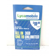 Lycamobile $19.90 SIM Starter Kit